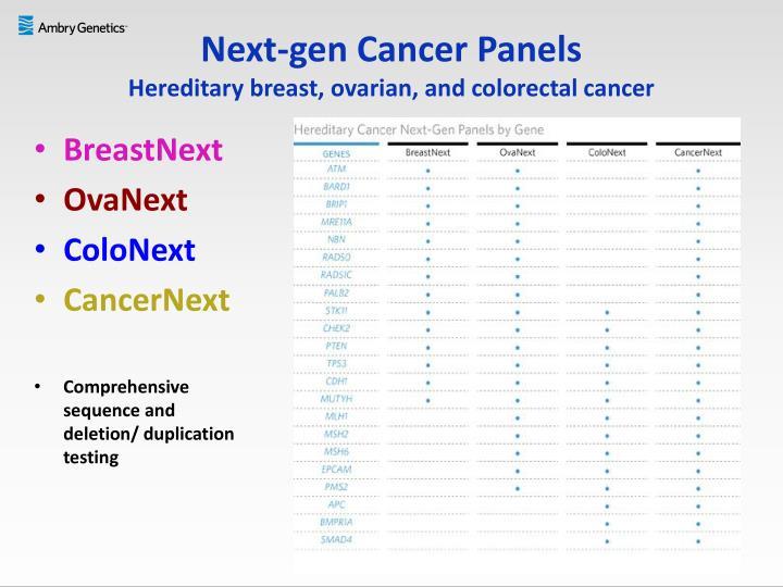 Next-gen Cancer Panels