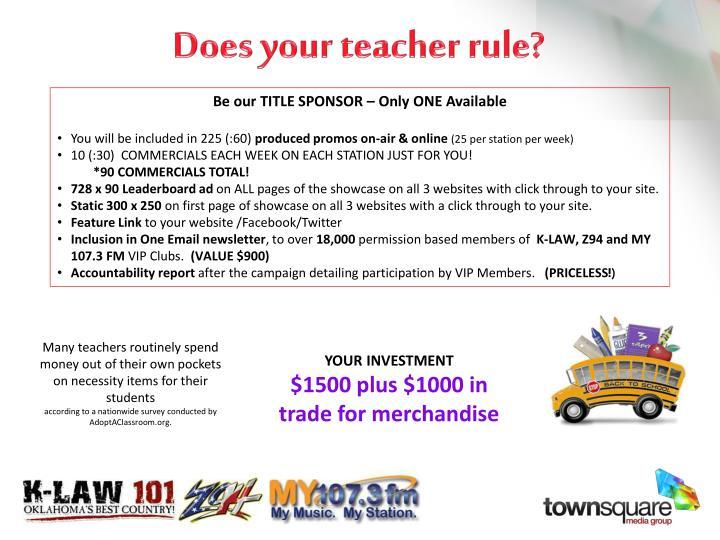 Does your teacher rule1