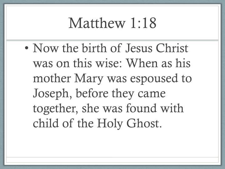 Matthew 1 18