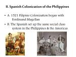 ii spanish colonization of the philippines