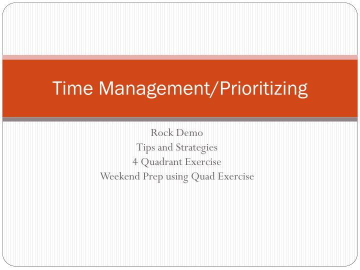time management prioritizing n.