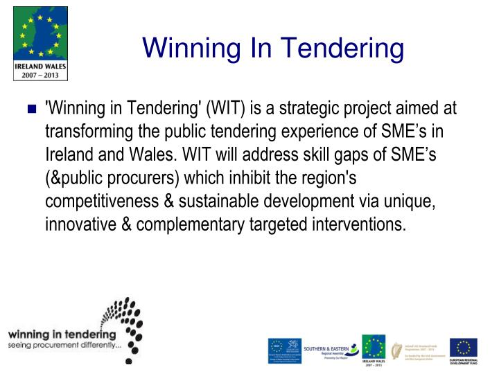 Winning In Tendering