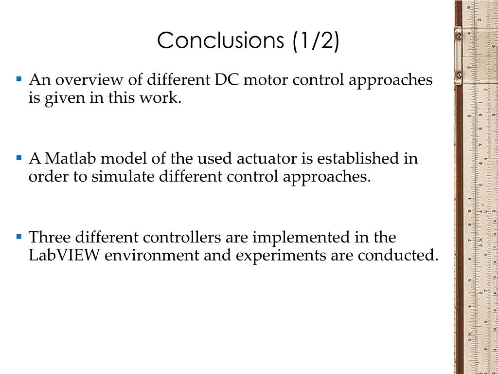 PPT - Comparison of different DC motor positioning control