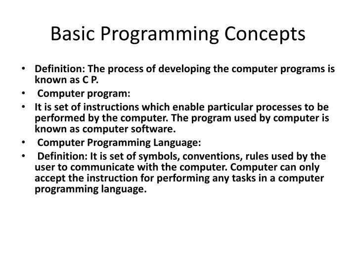 Ppt Basic Programming Concepts Powerpoint Presentation Id1903629