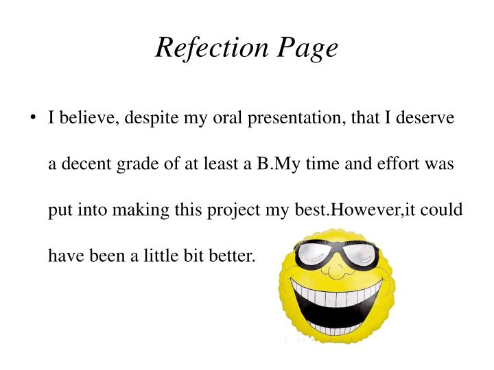 Refection Page