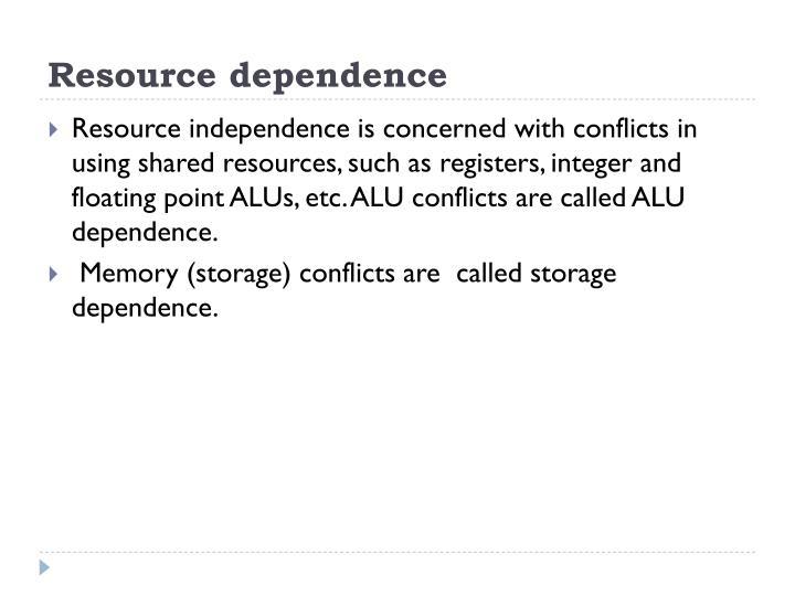 Resource dependence
