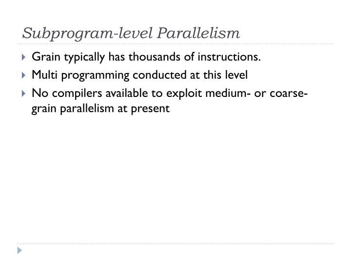 Subprogram-level Parallelism