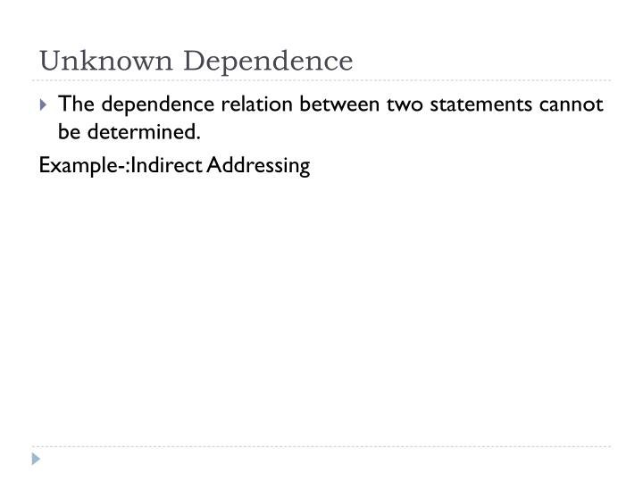 Unknown Dependence