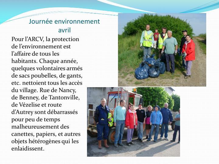 Journée environnement