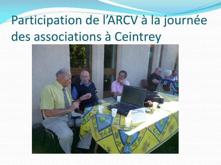 Participation de l'ARCV à la journée des associations à Ceintrey