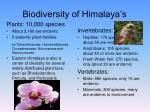 biodiversity of himalaya s