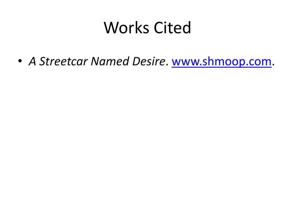 PPT - Notes for Streetcar PowerPoint Presentation, free download -  ID:1903951