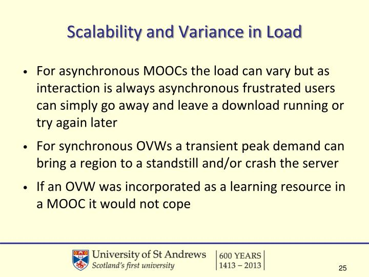 Scalability and Variance in Load