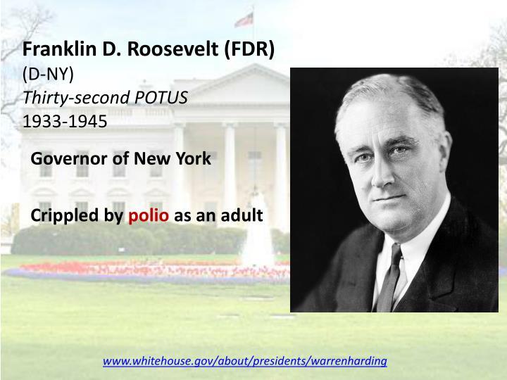 Franklin d roosevelt fdr d ny thirty second potus 1933 1945