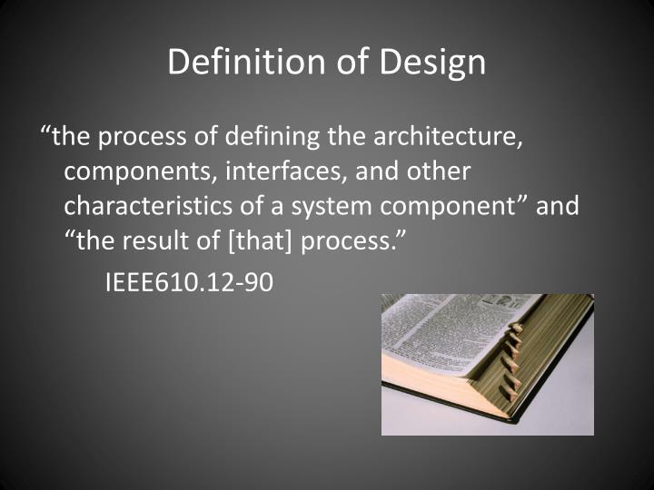 Definition of design