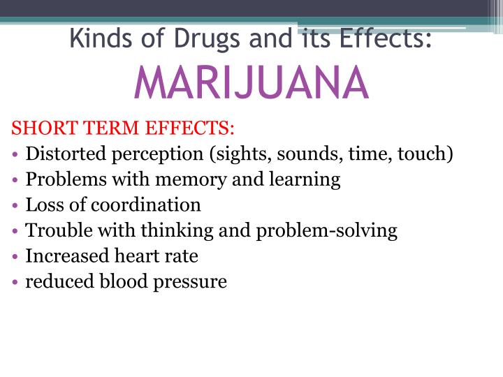 Kinds of Drugs and its Effects:
