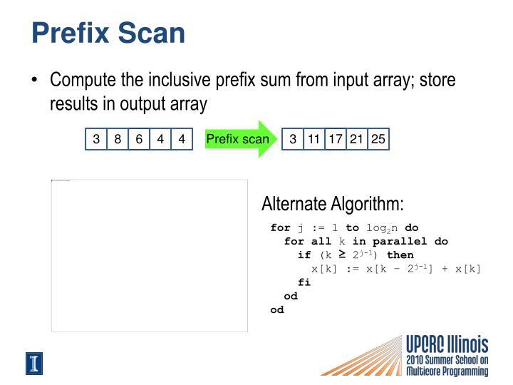 Prefix Scan