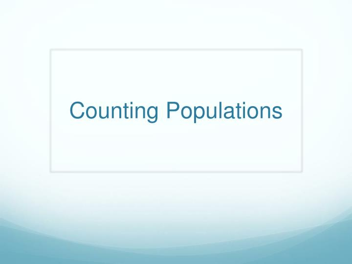 Counting populations