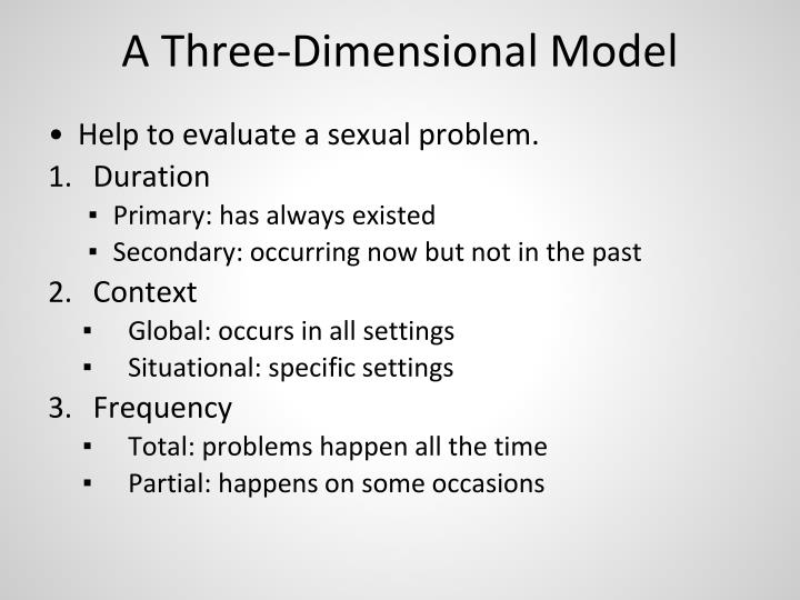 3 dimensional model of sexual problems