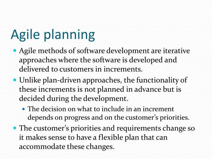 Agile planning