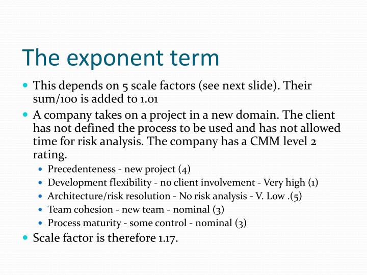 The exponent term