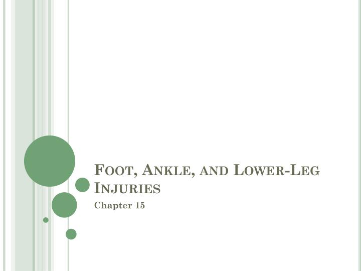 foot ankle and lower leg injuries n.