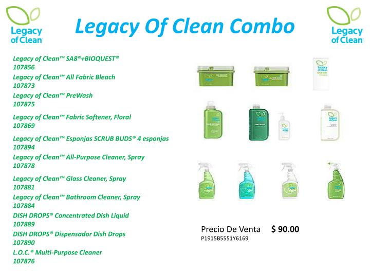 Ppt comercializando legacy of clean powerpoint for Legacy of clean bathroom cleaner