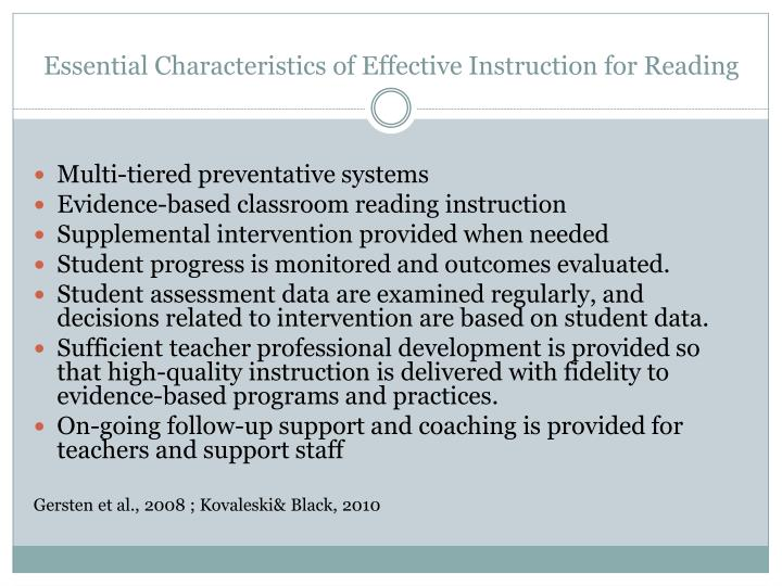 essential characteristics to effectice teaching