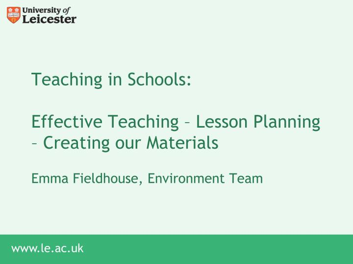 teaching in schools effective teaching lesson planning creating our materials n.