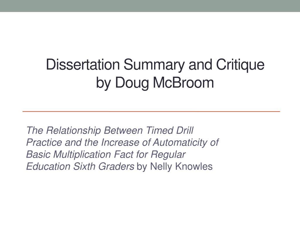 dissertation powerpoint