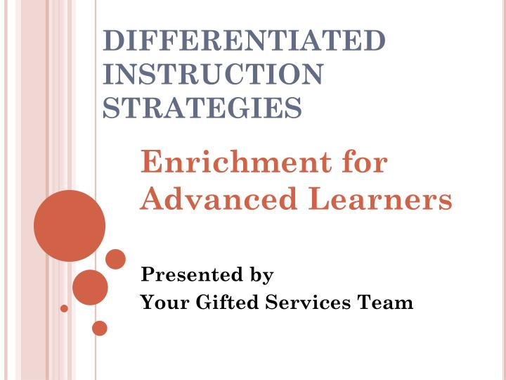 Ppt Differentiated Instruction Strategies Powerpoint Presentation