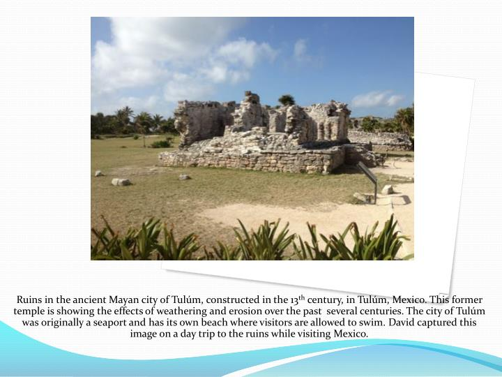 Ruins in the ancient