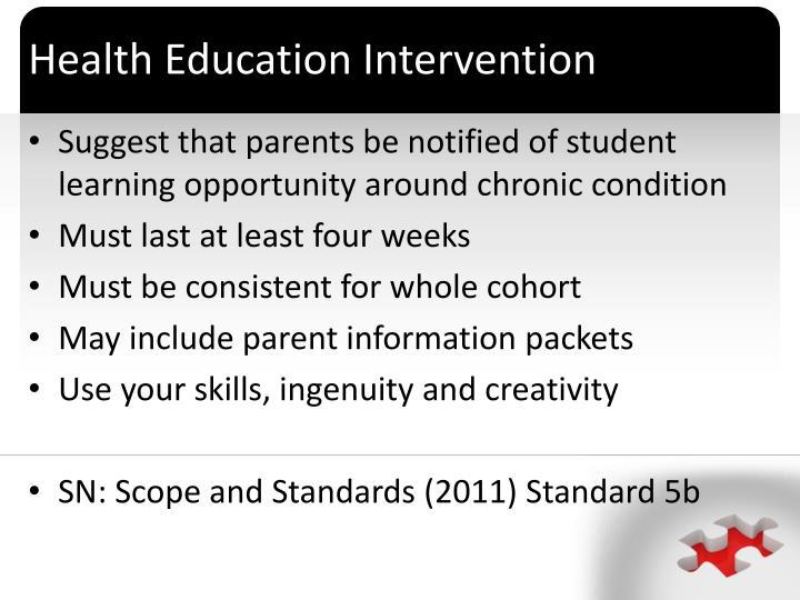 Health Education Intervention