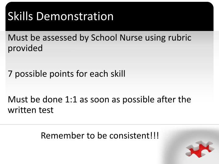 Skills Demonstration