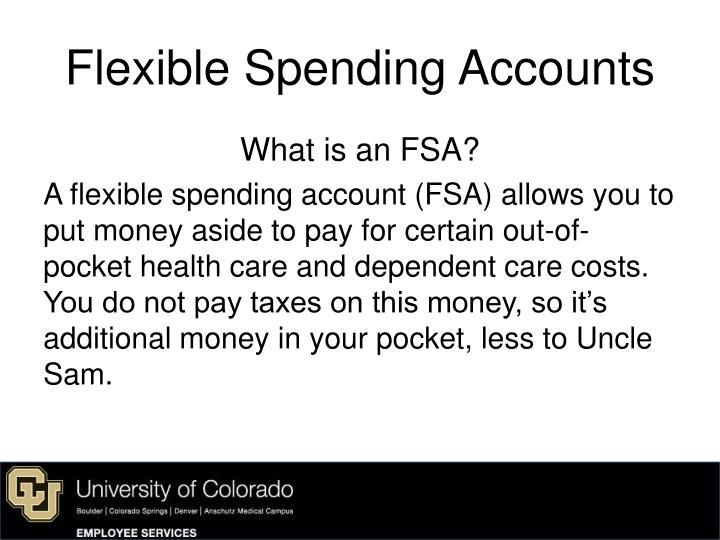 Flexible spending accounts1