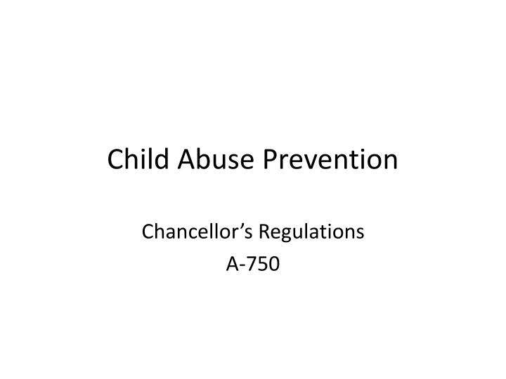 child abuse prevention n.