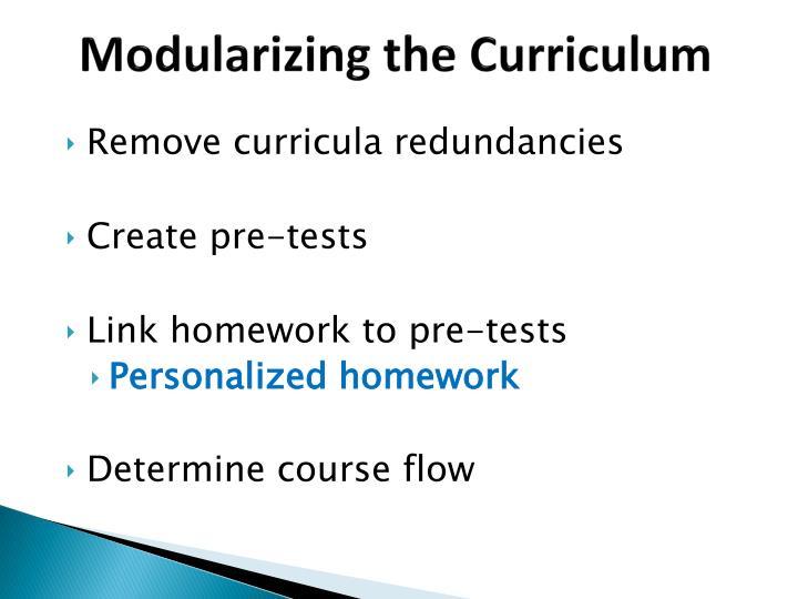 Modularizing the Curriculum