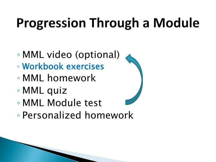 Progression Through a Module