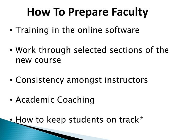 How To Prepare Faculty