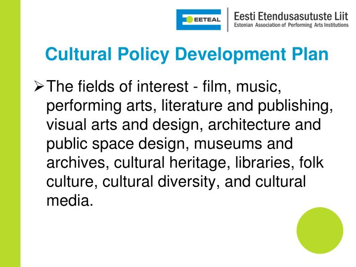 Cultural policy development plan1