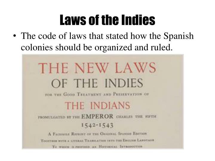Laws of the Indies