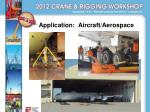 application aircraft aerospace