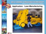 application lean manufacturing