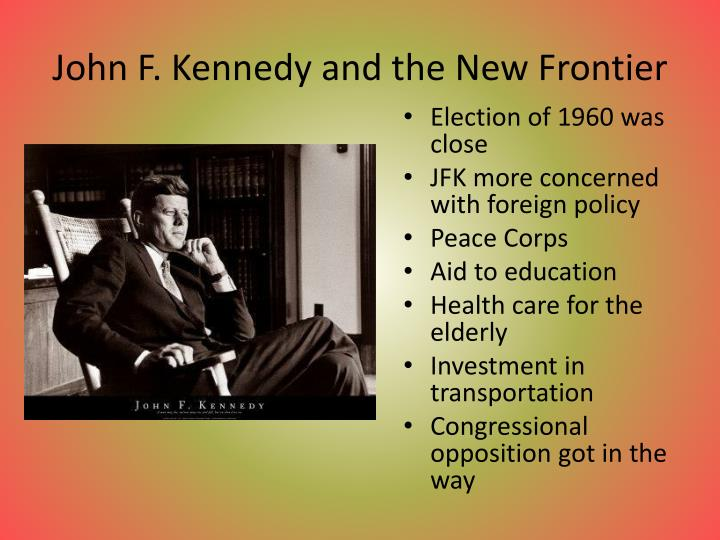 John f kennedy and the new frontier