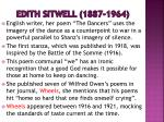 edith sitwell 1887 1964