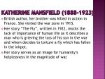 katherine mansfield 1888 1923