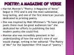 poetry a magazine of verse