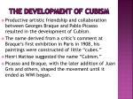 the development of cubism