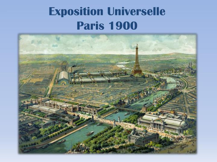 Exposition universelle paris 1900