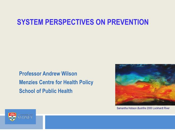 system perspectives on prevention n.